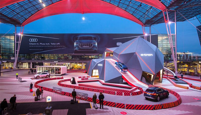 first-fully-electric-audi-e-tron-on-display-at-munich-airport