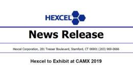 Hexcel to Exhibit at CAMX 2019