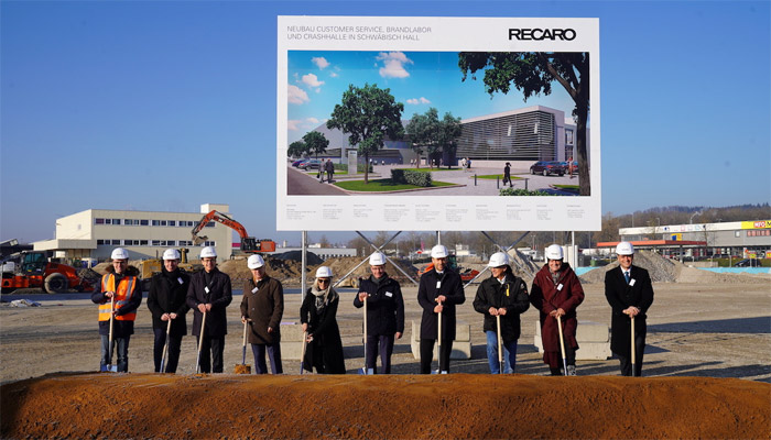 Recaro Aircraft Seating breaks ground on new expansion project at the headquarters in Schwaebisch Hall
