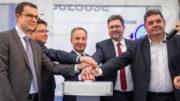 Sabena technics opens its new painting facility dedicated to long-range aircraft