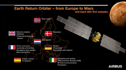 Earth Return Orbiter's first step to Mars