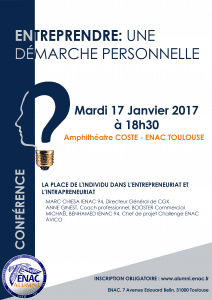 ENTREPRENDRE : UNE DÉMARCHE PERSONNELLE @ École nationale de l'aviation civile | Toulouse | Occitanie | France