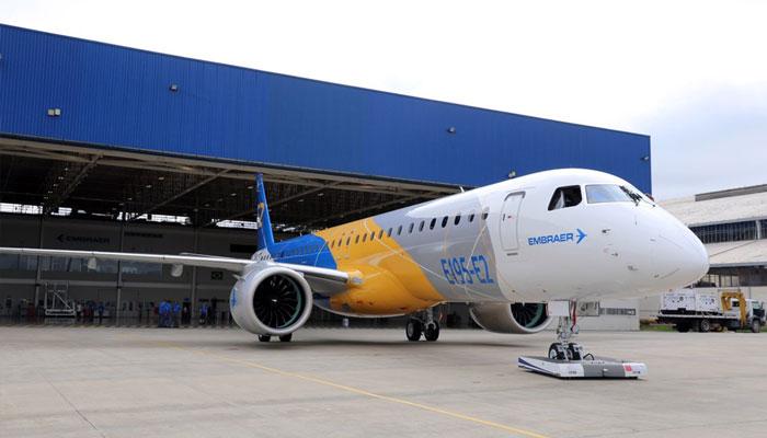 L'Embraer E195-E2 lors de sa première sortie officielle