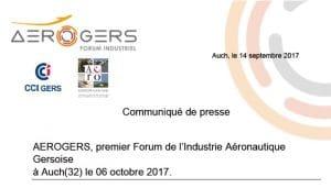AEROGERS, premier Forum de l'Industrie Aéronautique Gersoise à Auch(32) le 06 octobre 2017 @ Aéroport d'Auch-Gers | Auch | Occitanie | France