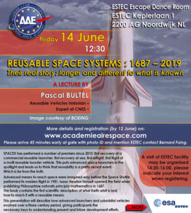 Reusable Space Systems : 1687 – 2019   Their real story: longer and different to what is known @ ESTEC - Escape Dance Room
