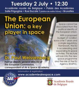 The European Union: a key player in space @ Palais des Académie
