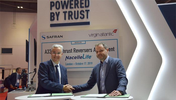 Virgin Atlantic Airways Ltd. choisit l'offre de services NacelleLife de Safran Nacelle
