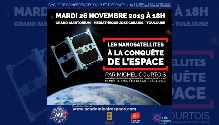 """Conférence """"Les nanosatellites à la conquête de l'espace"""" par Michel Courtois toulouse"""