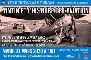Tintin et l'histoire de l'aviation @ Médiathèque José Cabanis