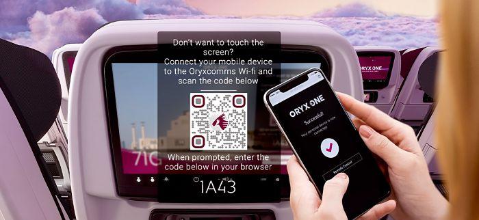 Qatar Airways va devenir la première compagnie aérienne à offrir une technologie de divertissement en vol sans contact