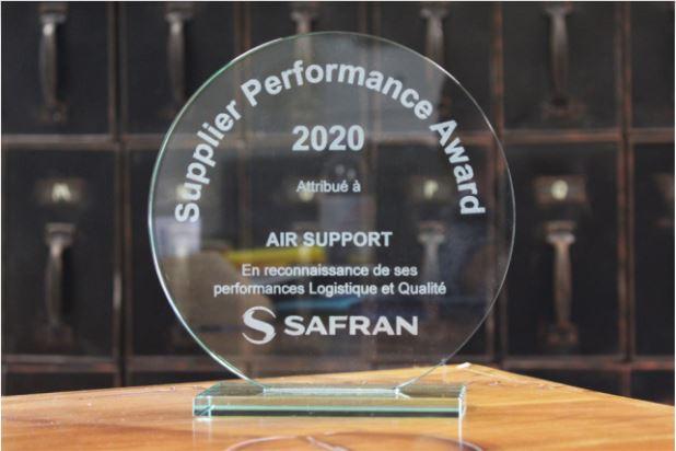 AIR SUPPORT désignée «Best MRO Supplier 2020» par Safran Aircraft Engines.