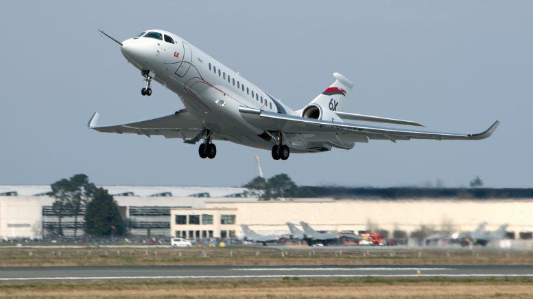 Succès du vol inaugural du Falcon 6X