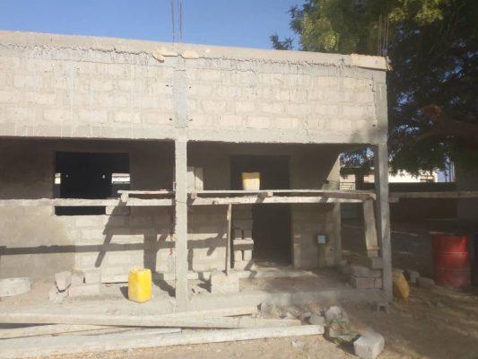 Classe en construction à l'école de Sanar (Saint-Louis du Sénégal)